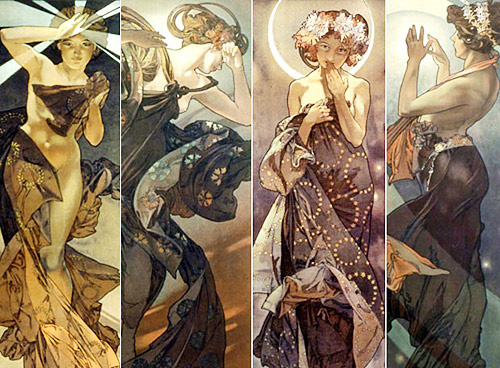 Moon and Stars Alphonse Mucha