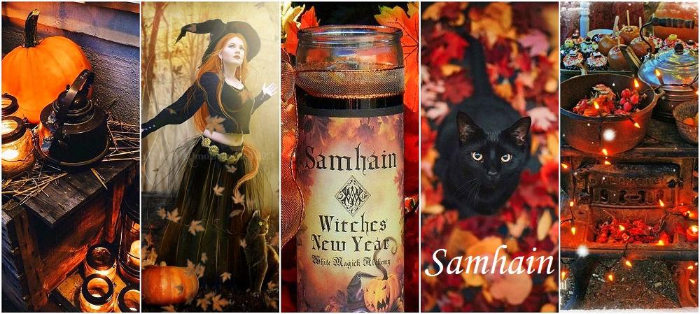 Samhain collage tekst